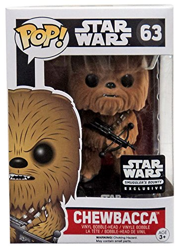 Movies: Star Wars – Flocked Exclusive Chewbacca Bobblehead #63
